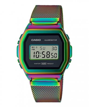 Casio Collection Vintage Iconic Rainbow Relógio A1000RBW-1ER