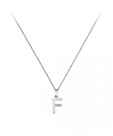 Hot Diamonds Love Micro Letter F Joia Colar Mulher DP406