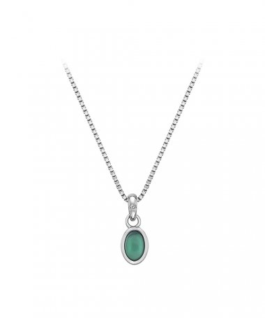 Hot Diamonds Birthstone May Green Agate Joia Colar Mulher DP758