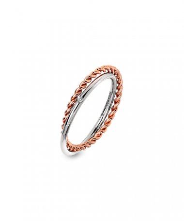 Hot Diamonds Unity Joia Anel Mulher DR211