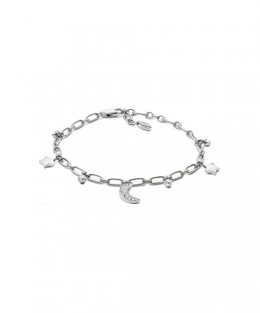 Fossil Moon and Stars Joia Colar Mulher JF03289040