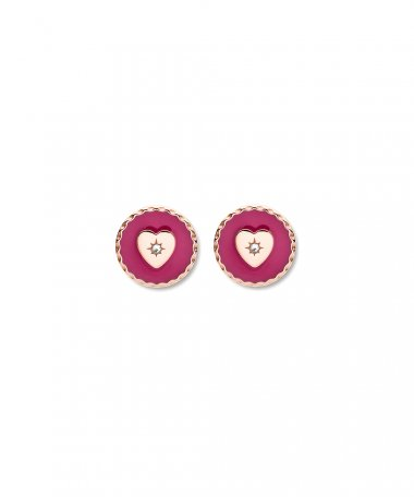 Fossil Pink Heart Joia Brincos Mulher JOF00671791
