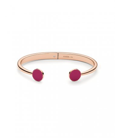 Fossil Pink Joia Pulseira Bangle Mulher JOF00682791