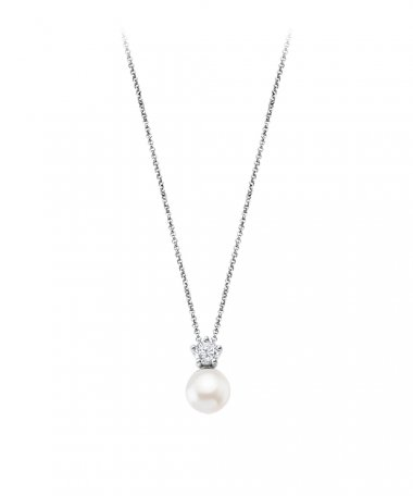 Lotus Silver Pearls Joia Colar Mulher LP1800-1/1