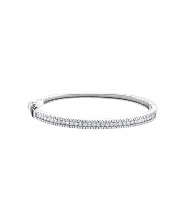 Lotus Silver Pure Essential Joia Pulseira Bangle Mulher LP1877-2/1
