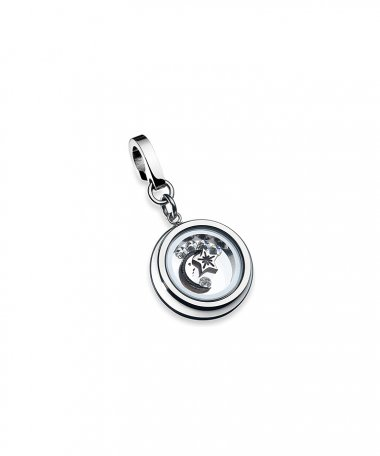 One Energy for Life Joia Charm Mulher Moon and Stars OJEBC705