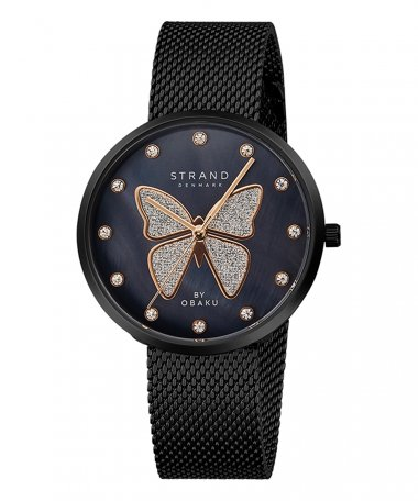 Strand Butterfly Charcoal Relógio Mulher S700LXBBMB-DB