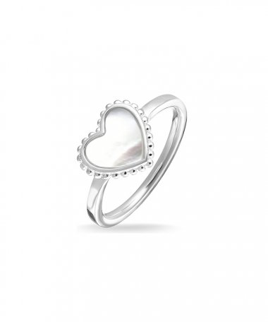 Thomas Sabo Heart Joia Anel Mulher TR2187-029-14